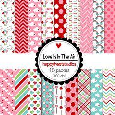 Digital Scrapbooking LoveIsIntheAir-INSTANT DOWNLOAD by azredhead