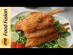 Crispy Chicken Skewers Recipe by Food Fusion (Ramzan Special Recipe) - YouTube Skewer Recipes, Appetizer Recipes, Dinner Recipes, Chicken Appetizers, Chicken Skewers, Ramzan Special Recipes, Ramzan Recipe, Chaat Masala, Yummy Chicken Recipes