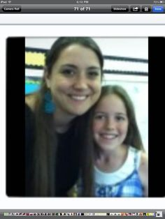 Mrs. Corrick with my best friend in the whole wide world!!!!!!!!!!!!!!! Luv u Chloe! BOOP!