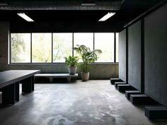 Kanye West's Calabasas Yeezy Studio Is A Brutalist Bauhaus Marvel Of Modern Design Calabasas Yeezy, Large Bookshelves, Studio Room, Brutalist, Office Interiors, Kanye West, Home Interior Design, Modern Design, Set Design