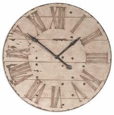 """Harrington Wall Clock 36"""" - 32"""" - 39"""" Wall Clocks....wonder if i could make this?"""