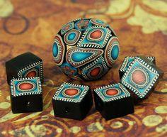 Set of 3 Polymer Clay Mini Canes  Mermaid's Treasure by ikandiclay,