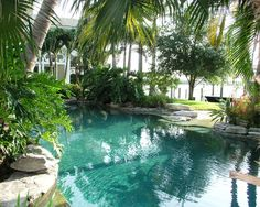 """If you want a real """"lagoon"""" look, you must consider the pool's color..."""