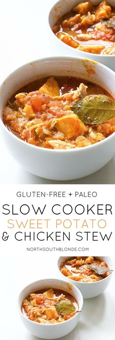 Super high in nutrients and extremely easy to make. Made with a variation of veggies, this makes for a delicious and hearty dinner. Fall Recipes | Slow Cooker | Crockpot | Stew | Paleo | Gluten-Free | Paleo Dinner | Lunch | Sweet Potato | Easy | Comfort Food | Hearty | Low Carb | Low Fat | Weight Loss | Healthy | Low cal | Nutritious | Chicken Stew | Winter Recipes | Soup |