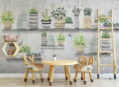 3D Green Plant 590 Wall Murals | AJ Wallpaper 3d Wallpaper Green, Kids Room Wallpaper, Paper Wallpaper, More Wallpaper, Self Adhesive Wallpaper, Custom Wallpaper, 3d Wall Murals, Wall Decals, Paper Plants