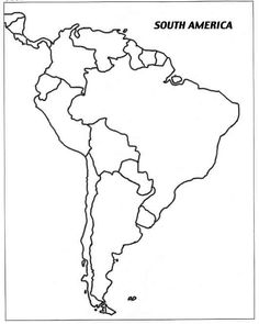 this printable map of south america is blank