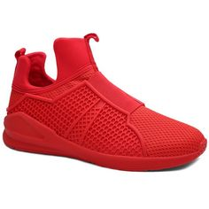 Fashionable Elastic Band and Solid Color Design Men's Athletic Shoes #Men #Shoes #fashion #style