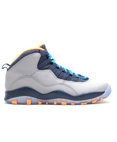 20203f0d9ba9c2 Air Jordan 10 Retro Bobcats Wlf Gry Dk Pwdr Bl Nw Slt Atmc 310805 026 Jordan