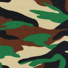 Mary Jo's Cloth Store - Nick of Time Textiles - Camo Twill - Black/Ivory/Green #fabric #camo