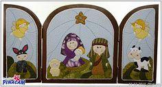 Belén patchwork sin aguja por Montse. #manualidades #pinacam #porex #navidad www.manualidadespinacam.com