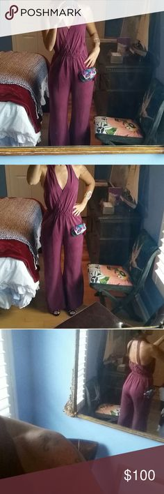 Jumpsuit from Rio de Janeiro Amazing jumpsuit from Rio is new! High quality good finessed or your money back ahahahah super cute 🌹🌹 wine color Rio Dresses