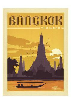 Bangkok, Thailand Art by Anderson Design Group at AllPosters.com