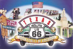 Route 66 Attractions | Route 66 Texas Collage Postcard | Flickr - Photo Sharing!