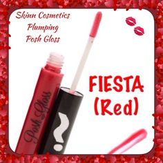💋Skinn Cosmetics Plumping Posh Gloss💋FIESTA(Red) 💋FIESTA (Red)💋 • Give your lips a little extra lushness with our Posh Gloss • Formulated with Vitamin E, Soy and Aloe to soothe and pamper your lips while leaving a lustrous and brilliant finish. • This ultra-rich formula allows for longer staying power, helps to nourish and smooth the appearance of dry lips.   HOW TO USE:  • Posh Gloss: Apply to lips, use alone or over lipstick to personalize your color. Skinn Cosmetics Makeup Lipstick
