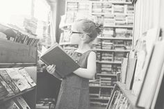 Andrea Martin Photography | Lemonade & Lenses - a lovely series with the photographer's daughter in a wonderful independent bookshop