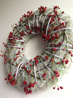 Advent Wreath - Winter Wreath - Christmas Wreath - Candle Ring - Centerpiece