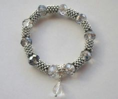 Chic silver with crystals and metal snowflakes