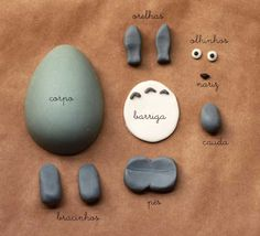 Totoro Polymer Clay STEP BY STEP...