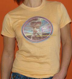 Vintage 1980s ET  Extraterrestrial Movie TShirt by Fatandyz Vintage, $20.00