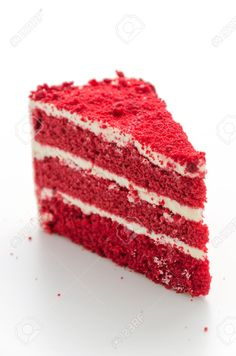 Red Velvet Cake Isolated On White Background Stock Photo, Picture And Royalty Free Image. Image 28612272.