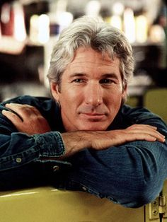 Richard Gere...the sexiest gray haired  man I've ever seen. I didn't like him as a young actor but as he grew older I found myself very attracted to him. Shall We Dance simply puts me over the edge.
