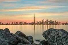 Toronto skyline viewed from the Islands, image by Sanjay Chauhan Toronto Island, Toronto Skyline, Sunset Sea, Artsy Photos, Dusk, Sunrise, Coast, Ocean, River