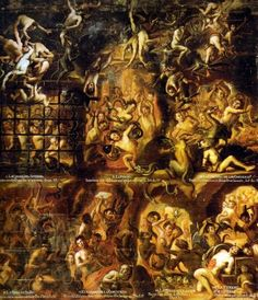 Pains of hell, Unattributed. XVIII century. Oil on canvas.
