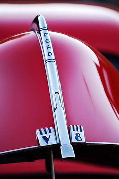 1940 Ford V8 Hood Ornament - Car Images by Jill Reger