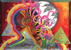 acid, aesthetic, and nightmare image