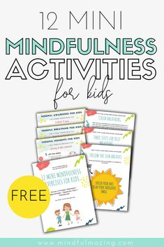 Why mindfulness for kids is so important 10 mindfulness activities you can try today with kids and teens! techniques include coloring breathing exercises meditation positive affirmation quotes and more mindfulness mindful zen copingstrategies Teaching Mindfulness, Mindfulness Exercises, Mindfulness For Kids, Mindfulness Activities, Mindfulness Meditation, Mindful Activities For Kids, Mindfulness Therapy, Mindfulness Practice, Mindful Gray