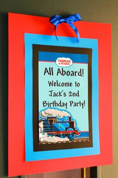 For Thomas the Train loving kids this Choo Choo Train birthday party has some neat ideas! The red, blue, and light blue theme carried through the party added some finishing touches.