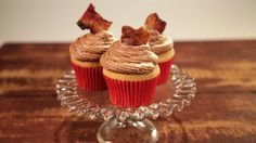 The perfect combination of sweet and salty! Baking Cupcakes, Cupcake Recipes, Cupcake Cakes, Dessert Recipes, Brownie Cupcakes, The Chew Recipes, Baking Recipes, Just Desserts, Delicious Desserts