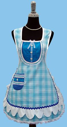 whimsical apron is made in the 50's vintage inspired style