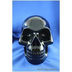 life-size black obsidian skull (4.5 kg)