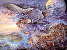 I don't know how she gets such nice details in her paintings! Another piece by Josephine Wall.