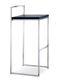 """""""Space Aluminum Bar Stool""""  Modern metal. Square frame geometric shapes made in brushed stainless steel. Stackable 5 high.  Please contact us for pricing (718)363-3097. #barstool"""
