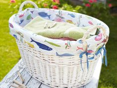 Create a matching set of laundry makes with our pretty peg bag, lavender sachets and laundry basket liner