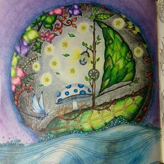 Leaf Boat Enchanted Forest Johanna Basford Cathyc Pencil Crayons