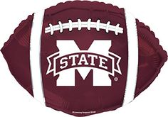 Creative Converting CTI Mylar Balloons Mississippi State 21 MaroonWhite pack of 5 >>> Click image for more details. (This is an affiliate link)