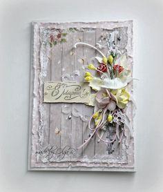 Ручная работа : Весенняя открытка с Таней Fleur