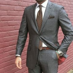 40 Sober Grey Suit Outfit Ideas for Men