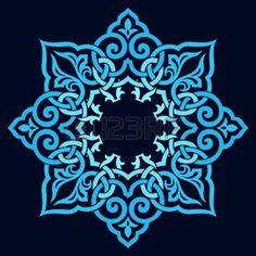 mandala: traditional Persian-Arabic-Turkish-Islamic Pattern  Illustration