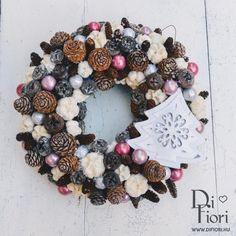 Christmas wreath, door hanger / Adventi kopogtató fehér karácsonyfával - Karácsony 2015 - Di Fiori