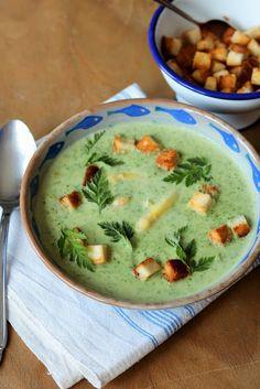 Kerbelcremesuppe mit weißem Spargel | Gourmandises végétariennes | Bloglovin'