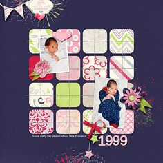I used Little Princess by Digital Scrapbook Ingredients Template is Stitched Down vol 1 by Laura Passage.