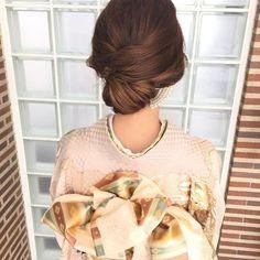 ひねりを入れて表情を出したスタイル♡ 茶道をする時に真似したいヘアスタイル。髪型・アレンジ・カットの参考に。