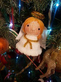 Ravelry: Christmas Angel ornament pattern by L. Free Baby Patterns, Knitting Patterns Free, Free Knitting, Free Pattern, Crochet Patterns, Penguin Ornaments, Christmas Angel Ornaments, Xmas Tree, Tea Light Snowman
