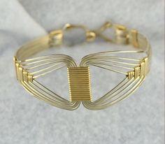 Egyptian Bracelet TUTORIAL.  Wire wrap tutorial by Untwistedsister