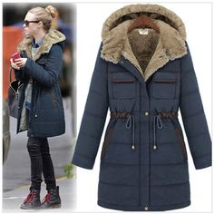 Buy from china:2014 women winter thick padded liner long jacket coat large size women's cotton the original single a generation of fat