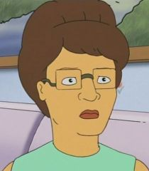"""Peggy Hill Real Estate Agent: Margaret J. """"Peggy"""" Hill (née Platter) is the wife of Hank Hill and the mother of Bobby Hill. She is also the paternal aunt of Luanne Platter. She is a substitute Spanish teacher at Tom Landry Middle School and a freelance writer for the local newspaper, the Arlen Bystander. She was a real estate agent in the show's later seasons."""